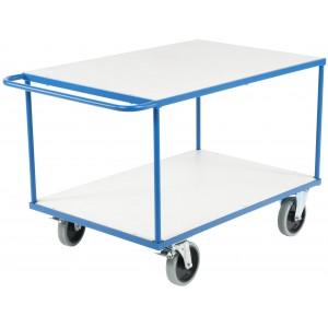 Ročni transportni voziček z dvema policama