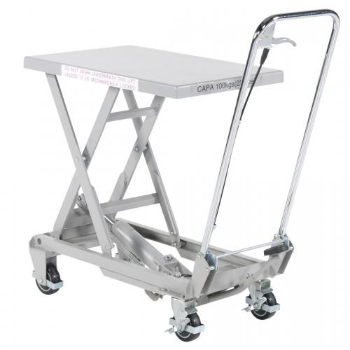 Premična delovna dvižna miza alu/nerjaveče jeklo