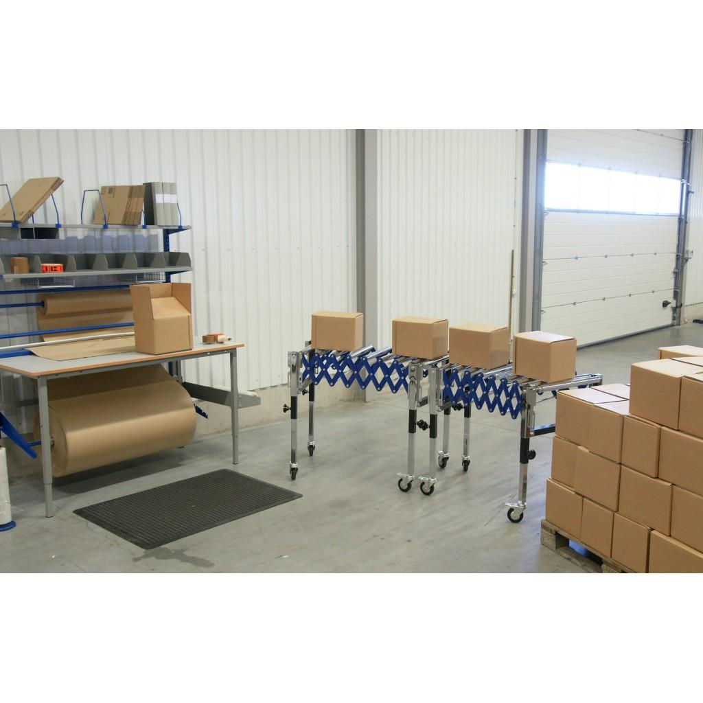 Fleksibilni tekoči trak - miza s kromiranimi valji