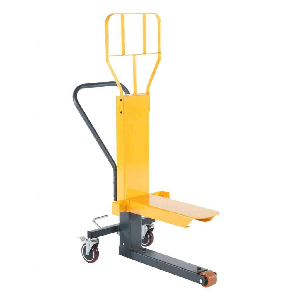 Trgovinski voziček z nožnim dvigom