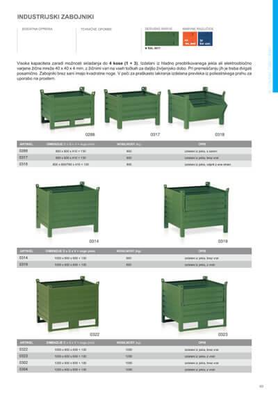 Katalog - Kovinski zabojniki
